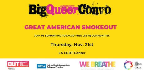 Big Queer Convo: Great American Smokeout tickets