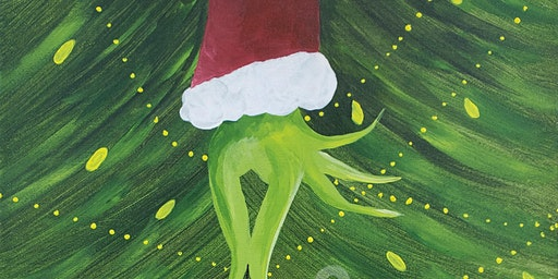 "Painting and Vino Canvas art - ""How the Grinch stole Christmas"""