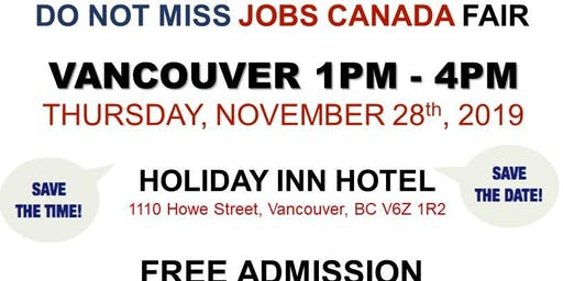 Vancouver Job Fair – November 28th, 2019