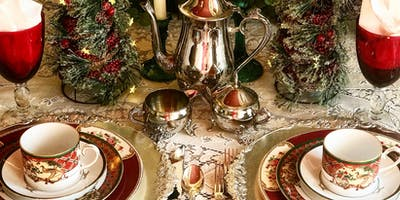 Traditional Exquisite Holiday Afternoon Tea & Holiday Centerpiece Make/Take