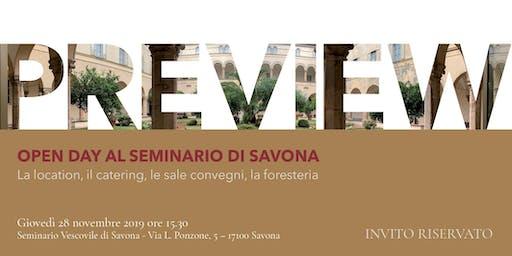 Preview. Open day al seminario di Savona