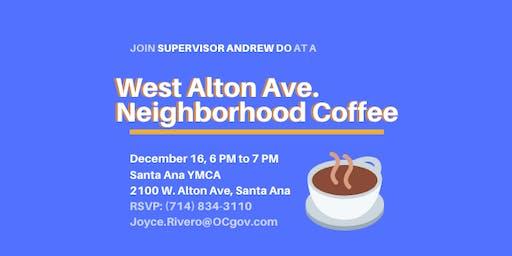 West Alton Neighborhood Coffee with Supervisor Andrew Do