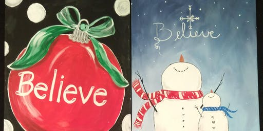 """Believe"" paint night"