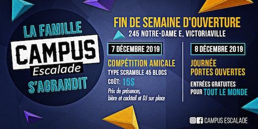 Compétition amicale d'ouverture du Campus Escalade Victoriaville