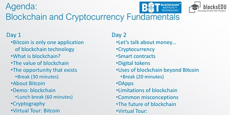 Blockchain and Cryptocurrency Fundamentals Certification Workshop tickets