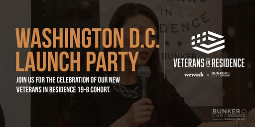 Washington D.C. Launch Party: Veterans in Residence powered by Bunker Labs
