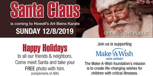 FREE Picture with Santa at Art Beins Karate