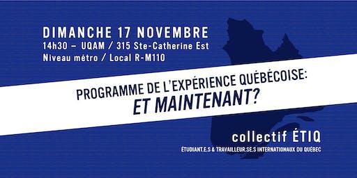 Programme Expérience Québec : Et maintenant ?
