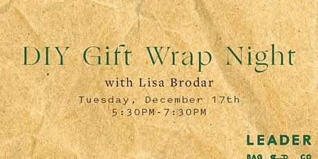 DIY Gift Wrapping Night tickets