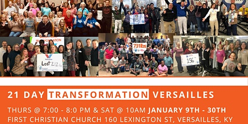 January 21 Day Transformation - Versailles