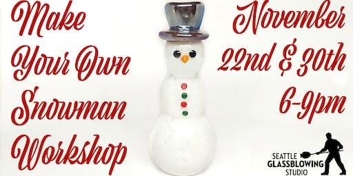Glass Snowman Workshop
