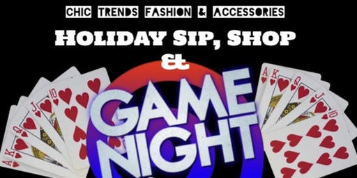 Chic Trends Fashion & Accessories Holiday Sip, Shop and Game Night