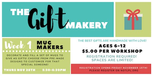 The Gift Makery: Week 1 - Mug Makers