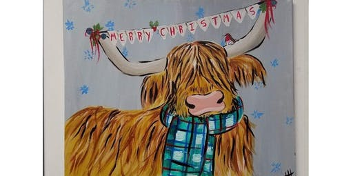 Merry the Highlander Christmas Cow (12-20-2019 starts at 6:30 PM)