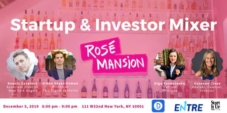 Startup and Investor Mixer at Rose Mansion tickets