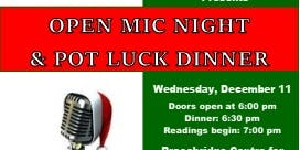 Christmas Open Mic & Pot Luck