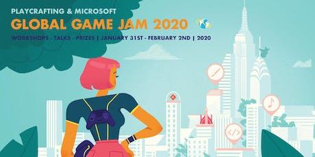 Playcrafting + Microsoft Global Game Jam 2020 tickets