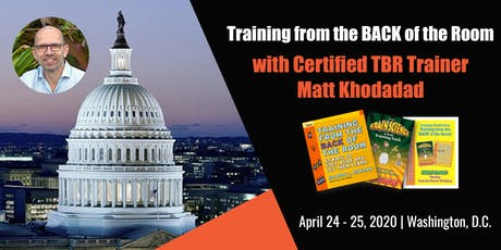 Training from the BACK of the Room - Washington, DC tickets