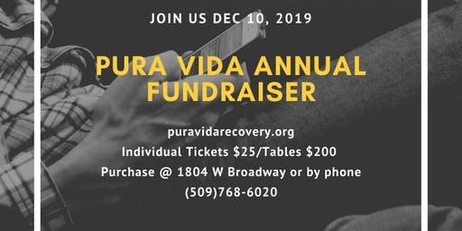 Pura Vida Recovery Annual Fundraiser Dinner and Silent Auction