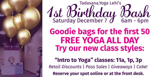Tadasana.Yoga Lehi First Birthday Bash