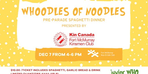 Whoodles of Noodles- Pre-Parade Spaghetti Dinner- Presented by Kinsman Club