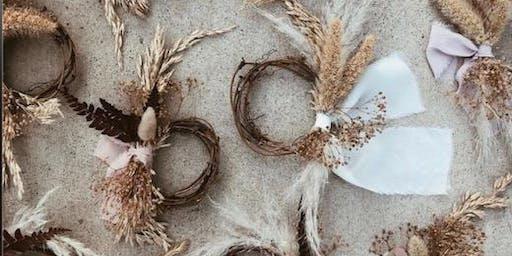 Pollen Nation Dried Winter  Wreath Workshop