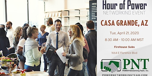 04/21/20 - PNT Casa Grande - Hour of Power Networking Event