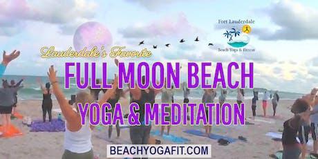 Ft Lauderdale Full Moon Beach Yoga & Meditation tickets