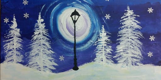 Winter Wonderland Painting for Toddlers