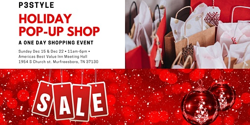 P3Style Deals Deals Deals Holiday Pop Up Shop December 15th 2019