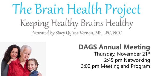The Brain Health Project - DAGS Annual Meeting