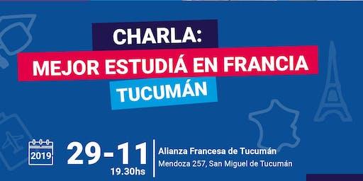 Charla informativa Campus France en Tucumán