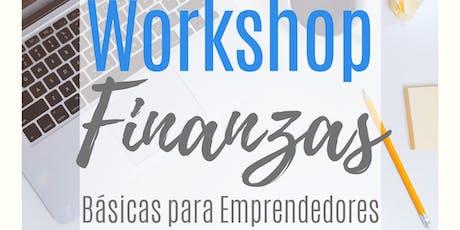 Workshop Finanzas Básicas para Emprendedores  entradas