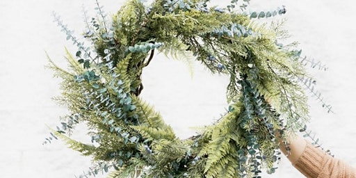 Pollen Nation Seasonal Wintergreen Wreath