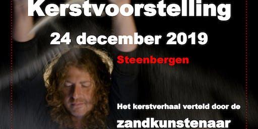 Kerst met de Zandkunstenaar in Steenbergen, voorstelling van 17.00 uur.