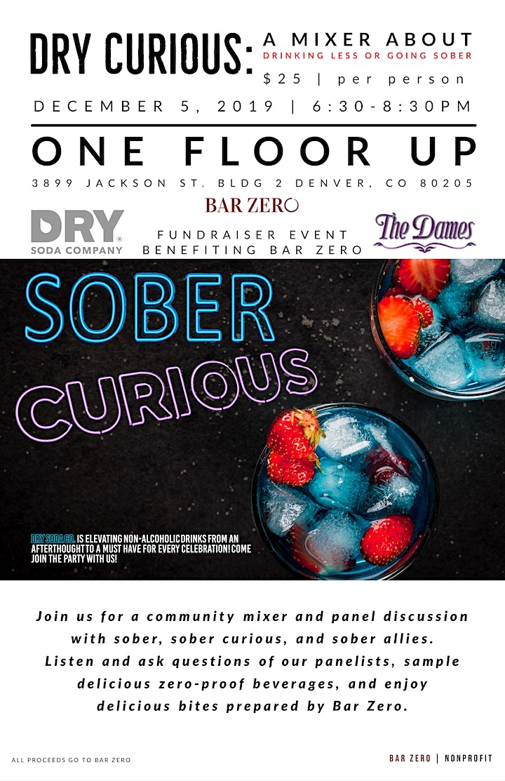 Dry Curious: A Mixer About Drinking Less or Going Sober image