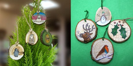 Christmas Tree Decorations in Pyrography tickets