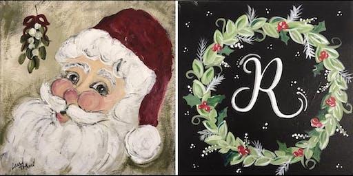 Santa or Wreath...Painter's Choice