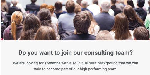 Entrepreneurial Shift Business Consultant Opportunity Information Session