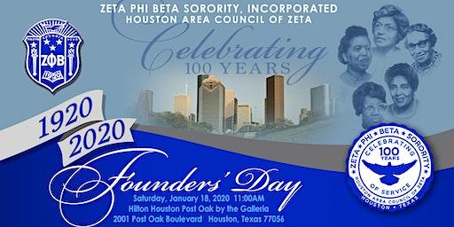 Centennial Celebration  Hosted By Houston Area Council of Zeta