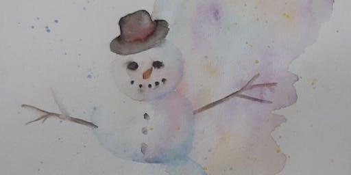Snowman Watercolour