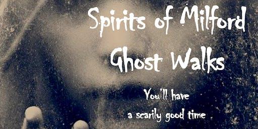 7 pm Saturday, October 24, 2020 Spirits of Milford Ghost Walk