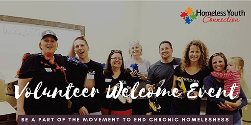 Homeless Youth Connection Volunteer Welcome Event