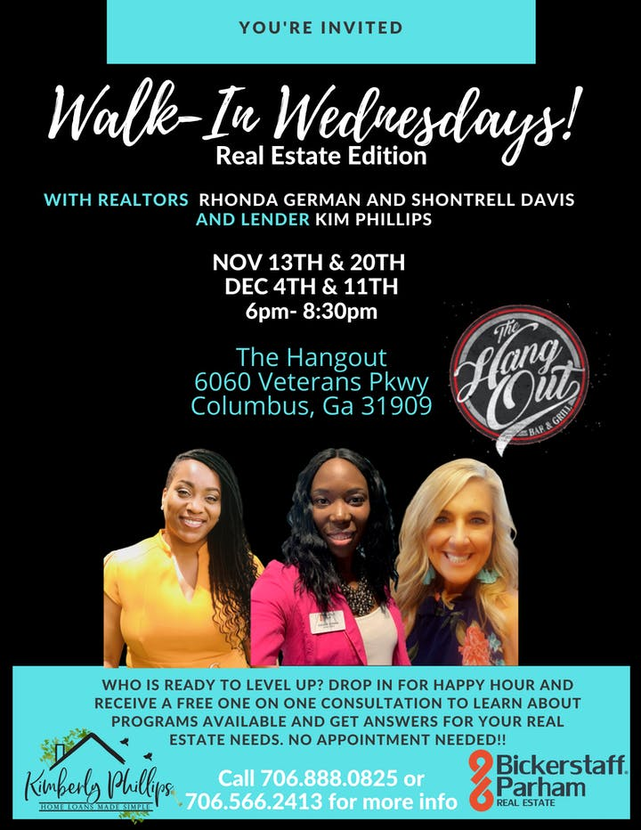 Realtors In Columbus Ga >> Walk In Wednesdays Real Estate Edition Tickets Wed Dec 4