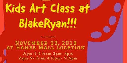 Kids Art Class at BlakeRyan Ages 5-8