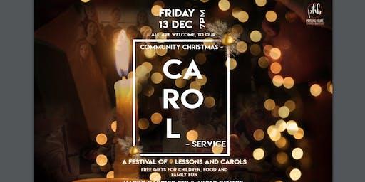 Community Christmas Carol at Harry Caddick