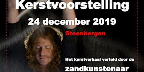 Kerst met de Zandkunstenaar in Steenbergen, voorstelling van 19.00 uur. tickets