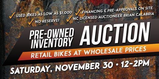 Pre-Owned Inventory Auction
