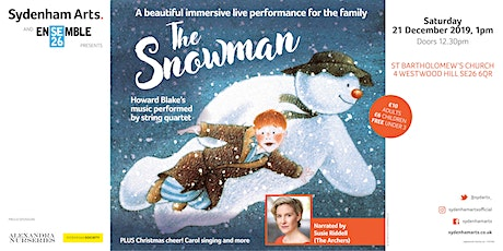 Sydenham Arts - The Snowman 1pm tickets