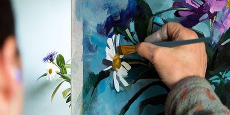 Aine Divine - Mixed Media Flower Painting Workshop (Expression of Interest) tickets
